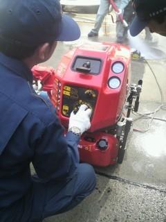 4ストローク3気筒エンジン小型消防ポンプ