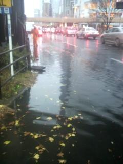 仙台市豪雨、仙台駅前冠水