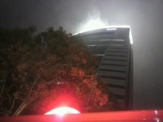 NTTドコモ東北ビルのボイラー排気が火災の煙に見えて誤報